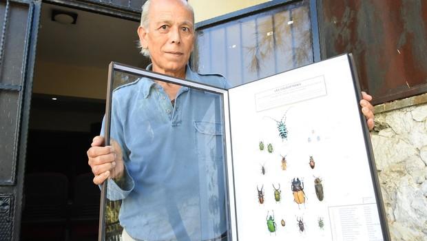 böcek1 Mezun olduğu lisede böcekleri sergiledi