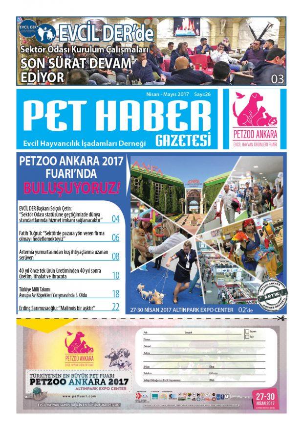 PET HABER Sayı 26 baskı 620x878 Pet Haber Gazetesi Nisan   Mayıs 2017 Sayısı Yayında