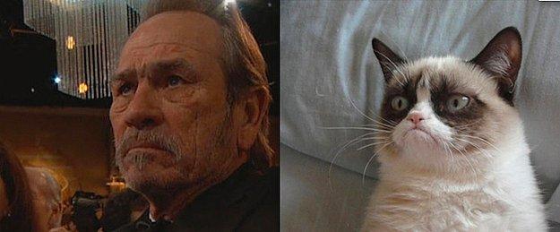 En İyi Yardımcı Erkek Oyuncu: Tommy Lee Jones = Huysuz Kedi